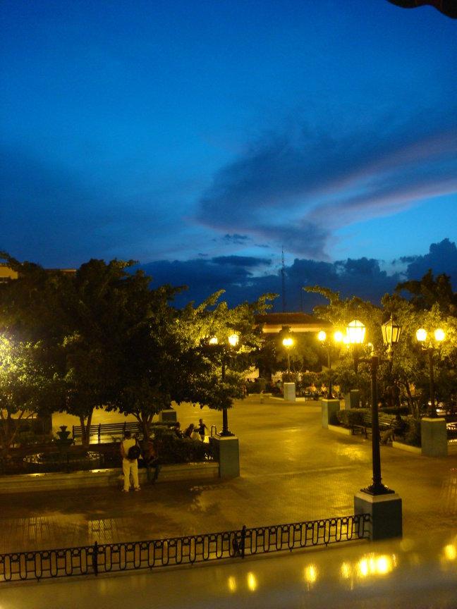 Santiago bij nacht