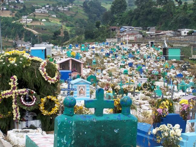 Kleurrijke begraafplaats