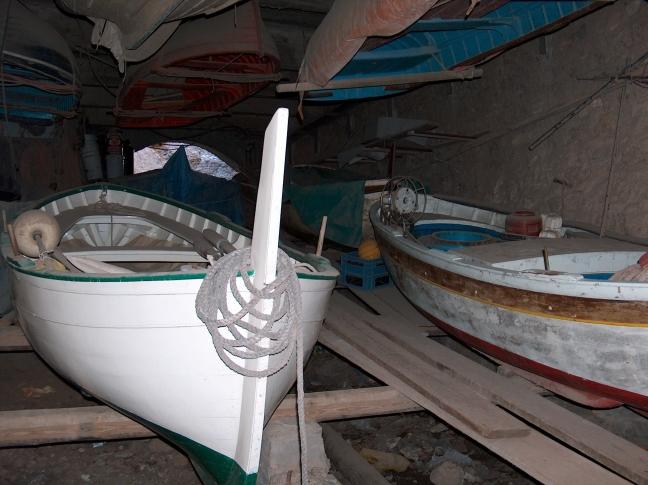 boten opgeslagen
