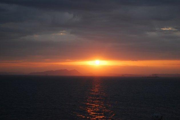 De zon verdwijnt