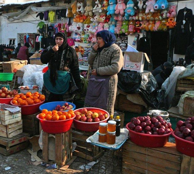 Snoepen op de markt