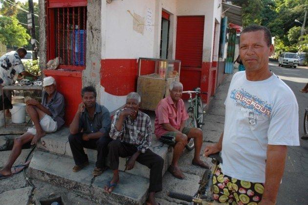 de visverkoper op mauritius