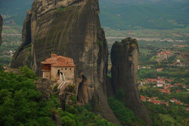 Het klooster Roussanou, Meteora