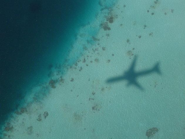 Vliegen over water