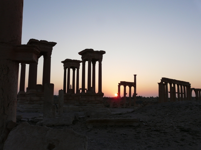 Zonsopgang in Palmyra