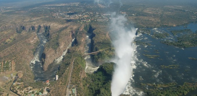 Victoria Falls vanuit de helikopter