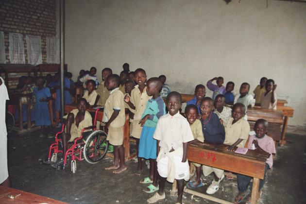 Schoolklas in het internaat van Gatagara