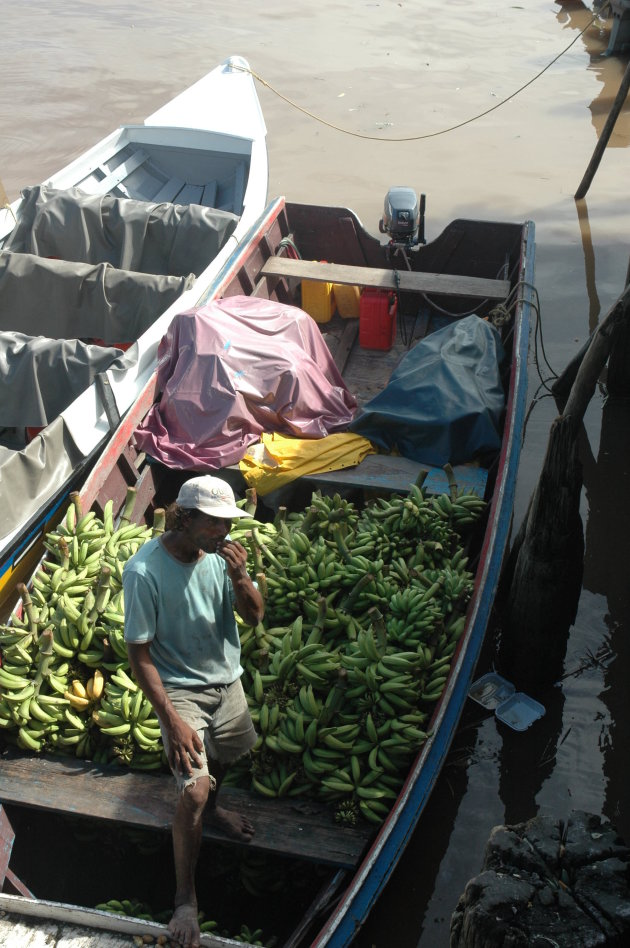 Bananen op transport