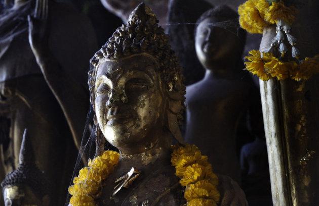 boeddha in de Pak Ou grotten