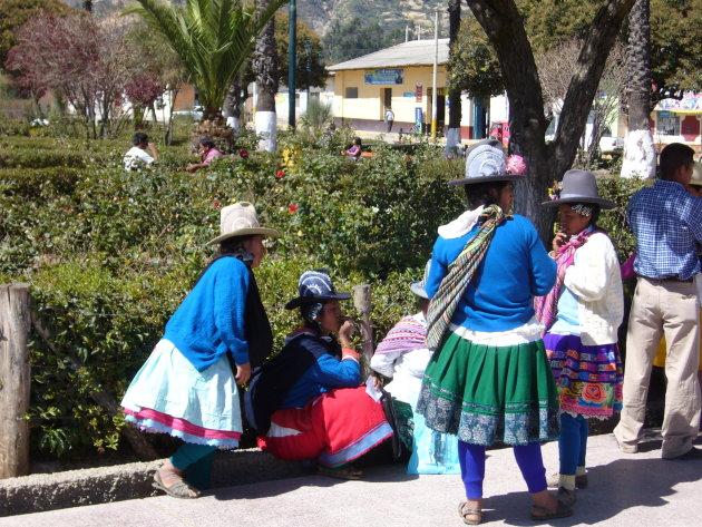 Klederdracht in de Andes