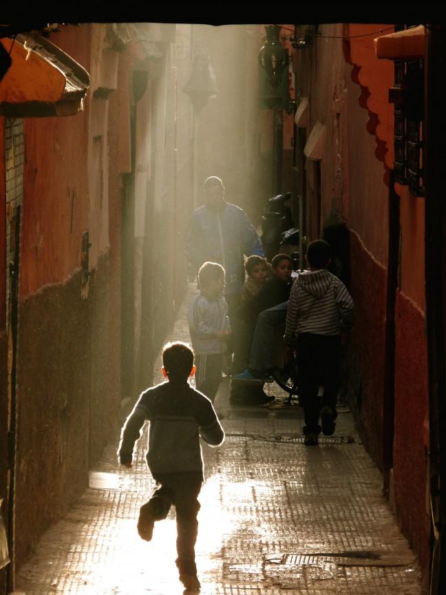 In de souks van Marrakech