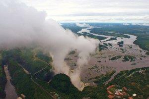 Victoria Falls vanuit de helicopter!