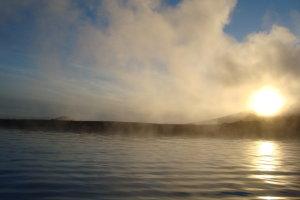zonsondergang in IJsland