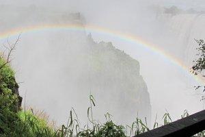 Rainbow at the Vic falls