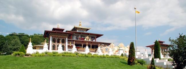 Boeddhistische tempel in de Morvan