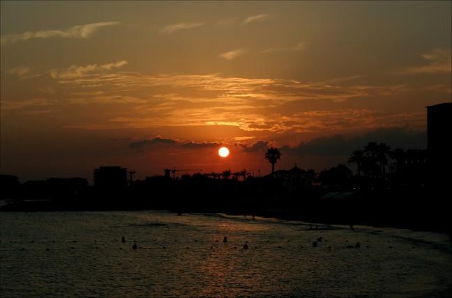 zonsondergang st raphael