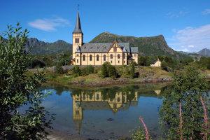 Lofotenkathedraal in Kabelvag