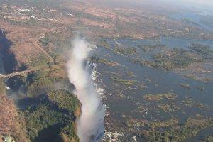 Viktoria Watervallen vanuit de lucht
