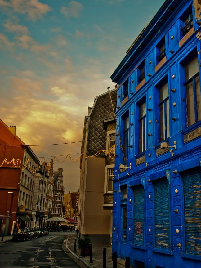 Blauw Huis in het Centrum van Gent