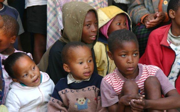 Kinderen in Lesotho