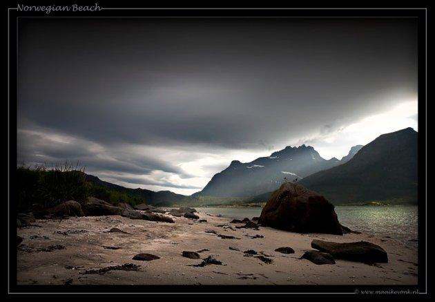 Strandje in Noorwegen