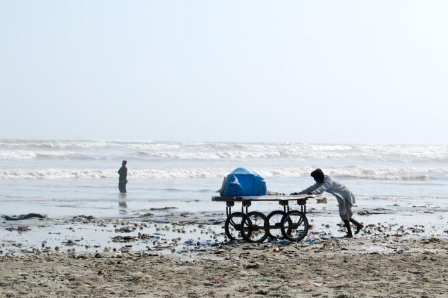 Het strand van Karachi