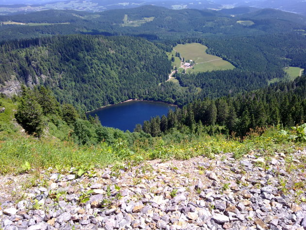 Feldbergsee vanaf de Feldberg - Schwarzwald