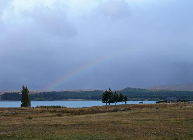 Lake Tekapo en de Church of the Good Shepard