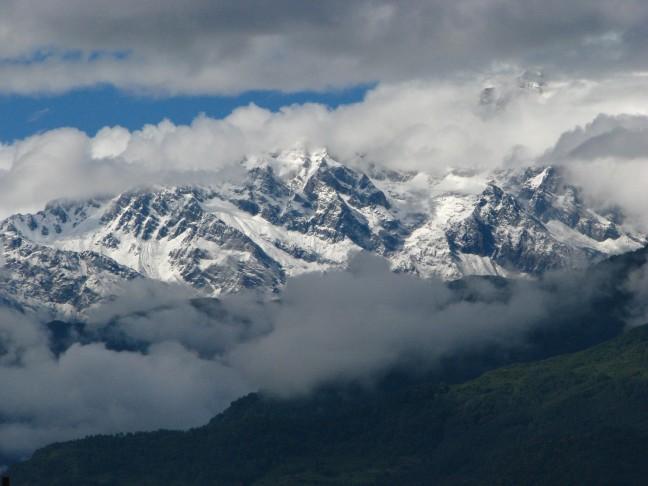 berg in zicht....