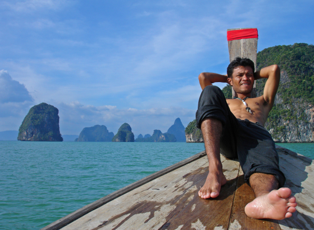 Longtailboat trip in Phang Nha Bay
