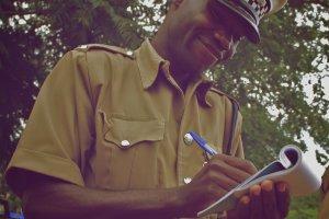 Bekeuring van de Zambiaanse politie