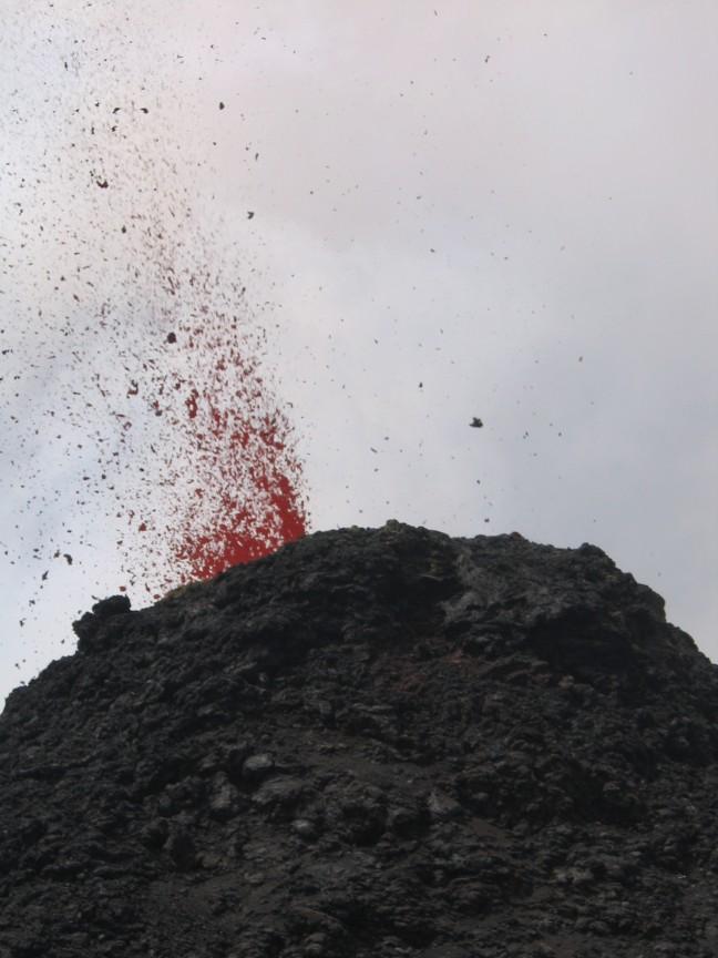 Vulkaan Pacaya in werking