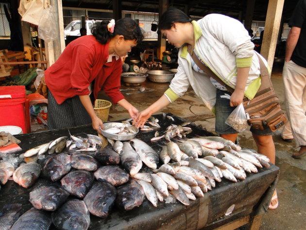 Vis verkoopster