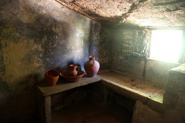 De keuken in het Capuchos klooster