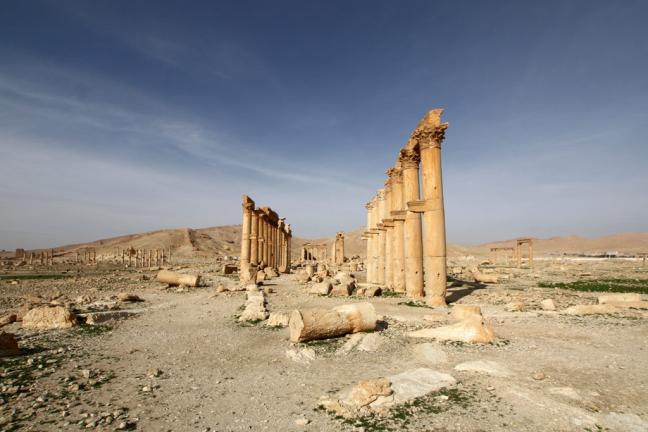 de collonade van Palmyra