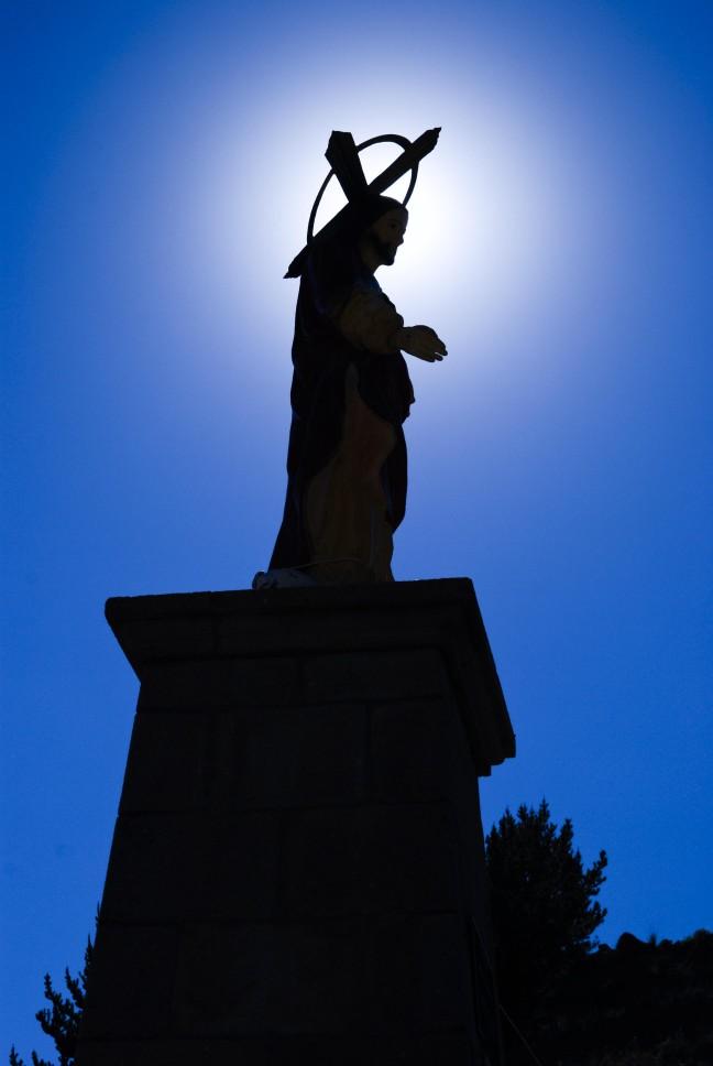 Christusbeeld in Copacabana - Bolivia