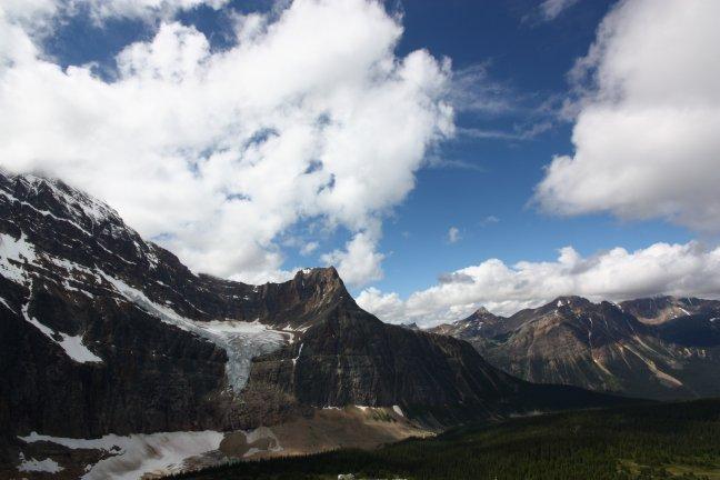 Angel Glacier vanaf Mt Edith Cavell
