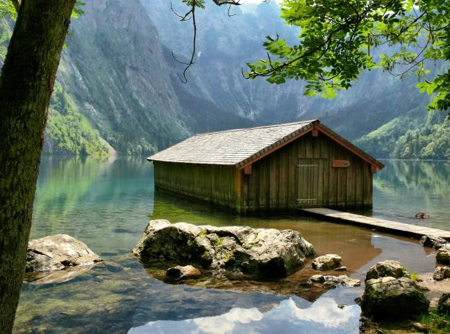 Botenhuis  in de Obersee