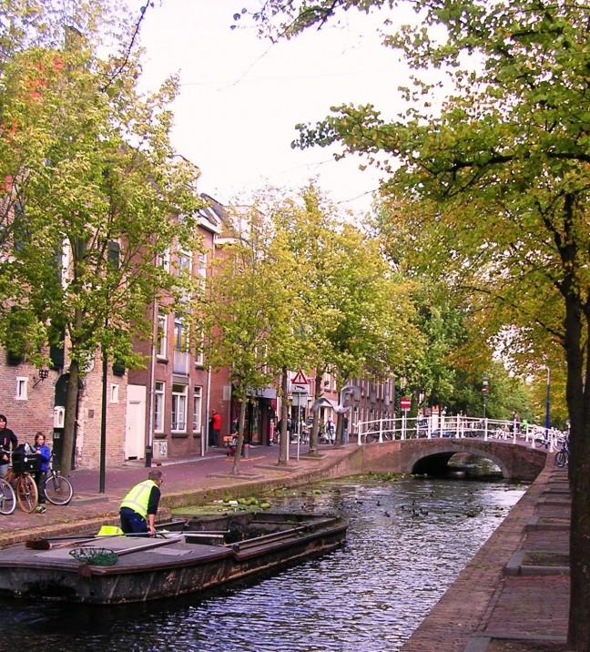 Platte boot / Delft