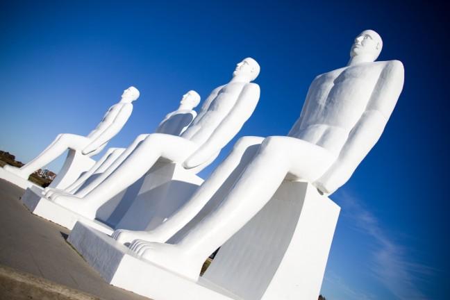 Esbjerg, beelden 'man op zee'.