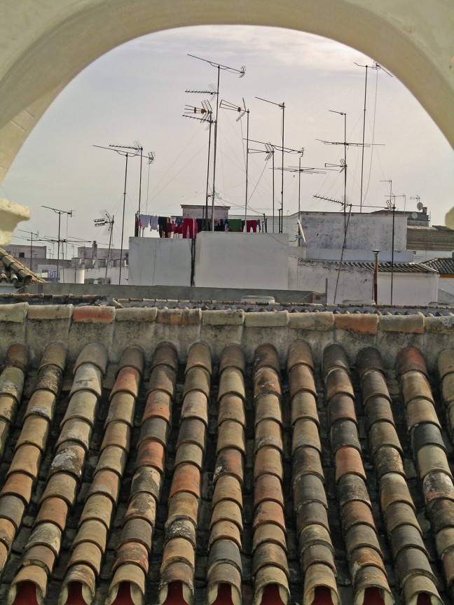 Antennes op het dak