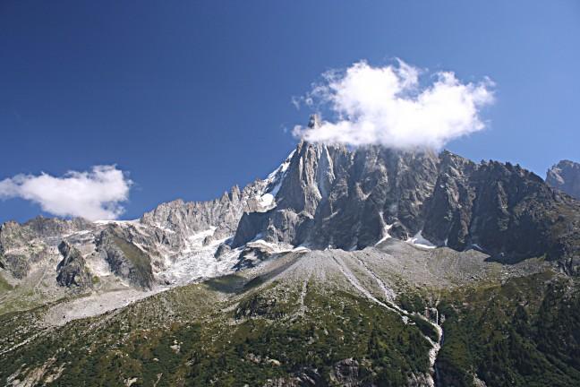 uitzicht op de Mont Blanc