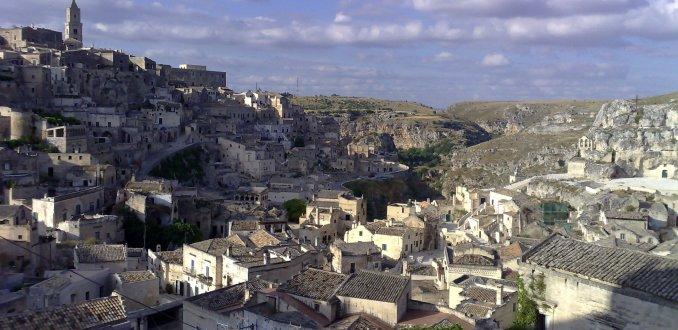 Uitzicht op Matera
