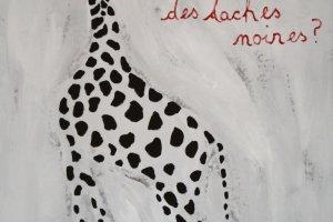 Giraffe tekening in ons hotel