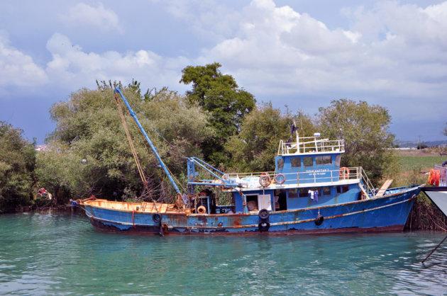 Vissersboot op de Manavgatrivier