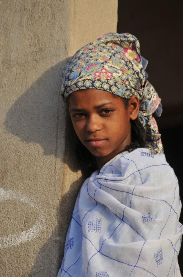 peul meisje in het noorden van Kameroen