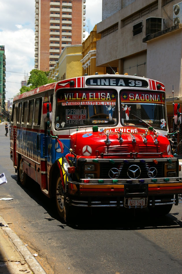 Stadsbus in Asuncion...