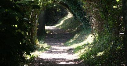 wandelpad op Guernsey