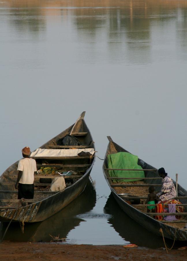 boten op de niger