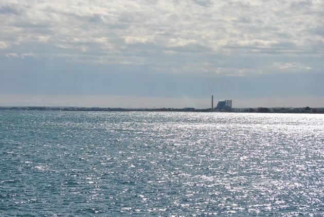 de industriele kustlijn van Sousse